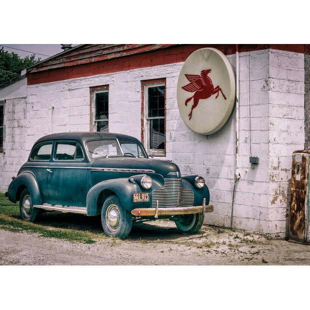 Tuinschilderij Car Blue 70x130cm