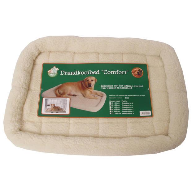 Draadkooibed comfort ivoor 55 x 35 cm