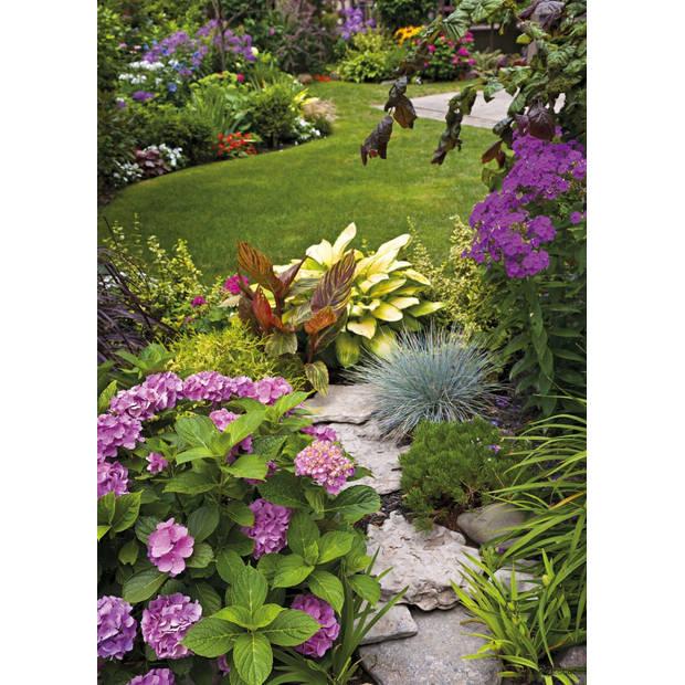 Tuinschilderij English garden view 70x130cm