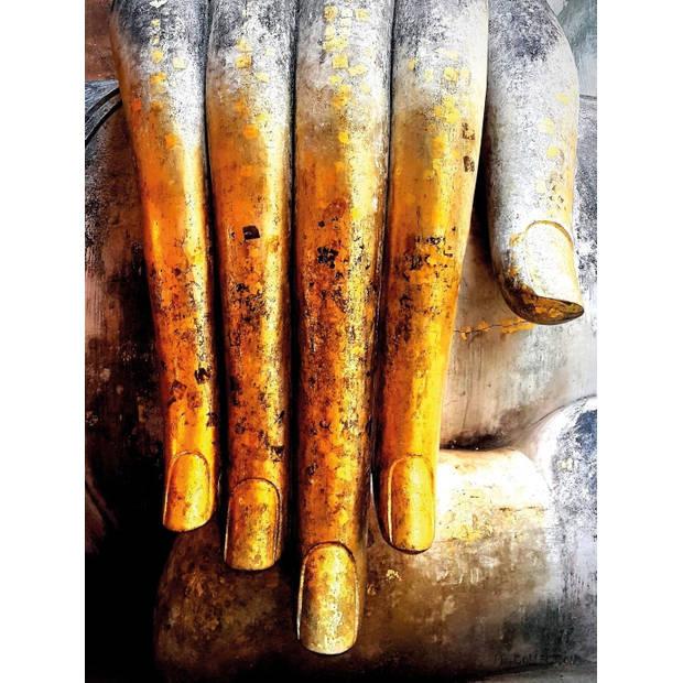 Tuinschilderij Boedha Hand 70x130cm