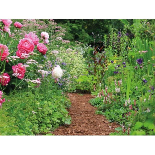 Tuinschilderij English Cottage Garden 70x130cm