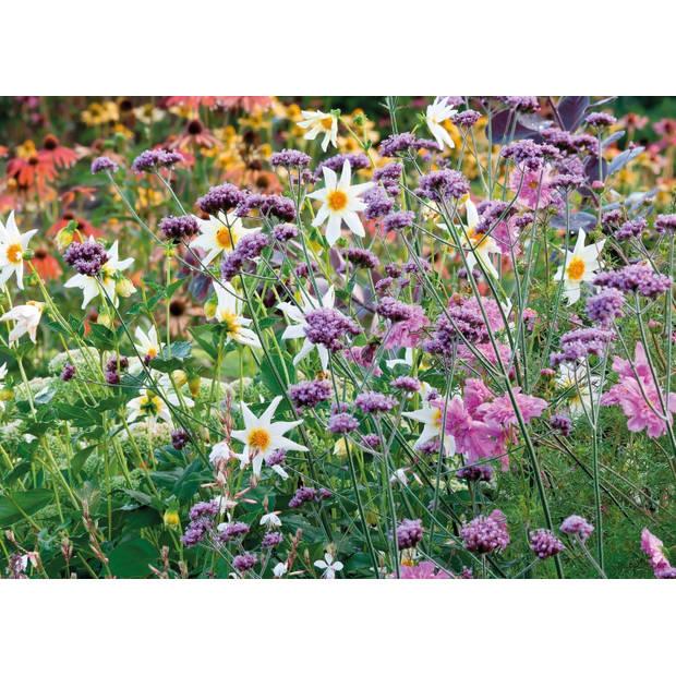 Tuinschilderij Wild flowers purple 70x130cm
