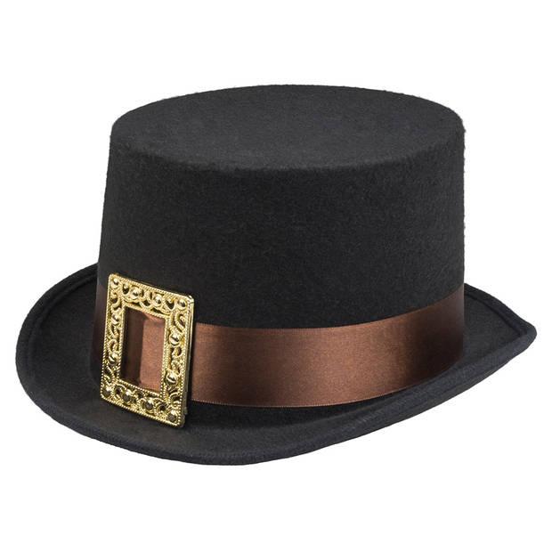 Boland hoed steambuckle zwart one size