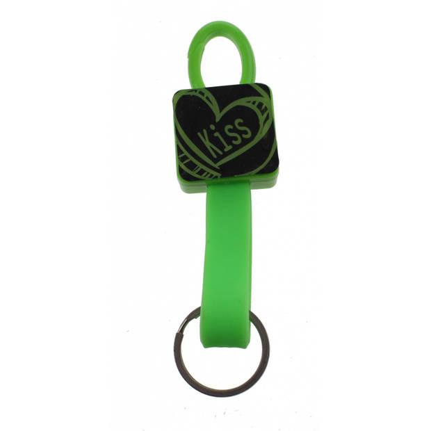 TOM elastische sleutelhanger 12 cm groen