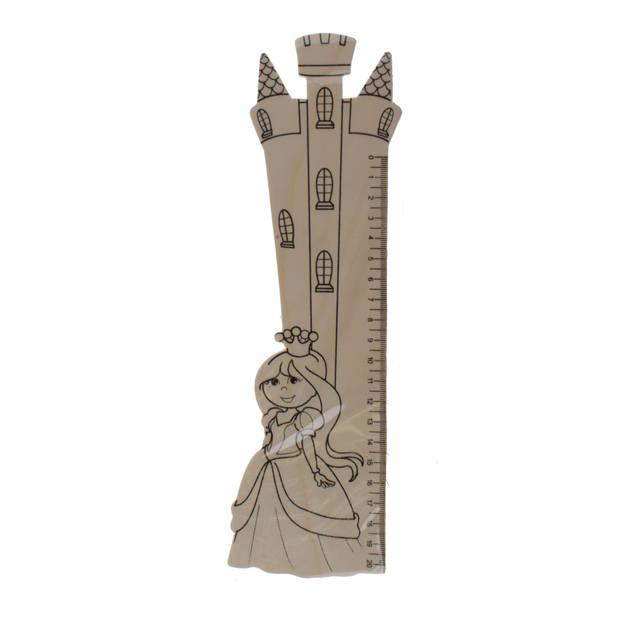 TOM houten liniaal prinses 20 cm
