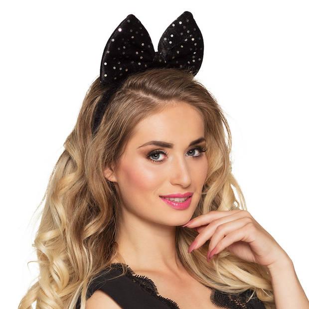 Boland tiara vlinderstrik dames polyester zwart