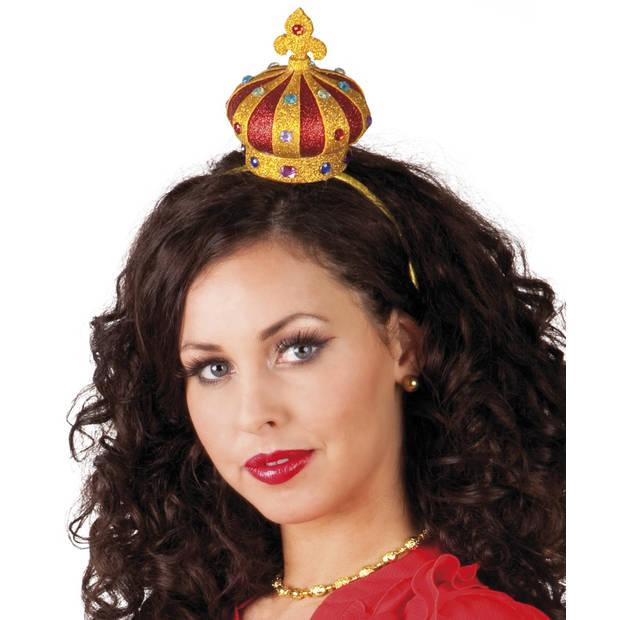 Boland tiara kroon goud/rood