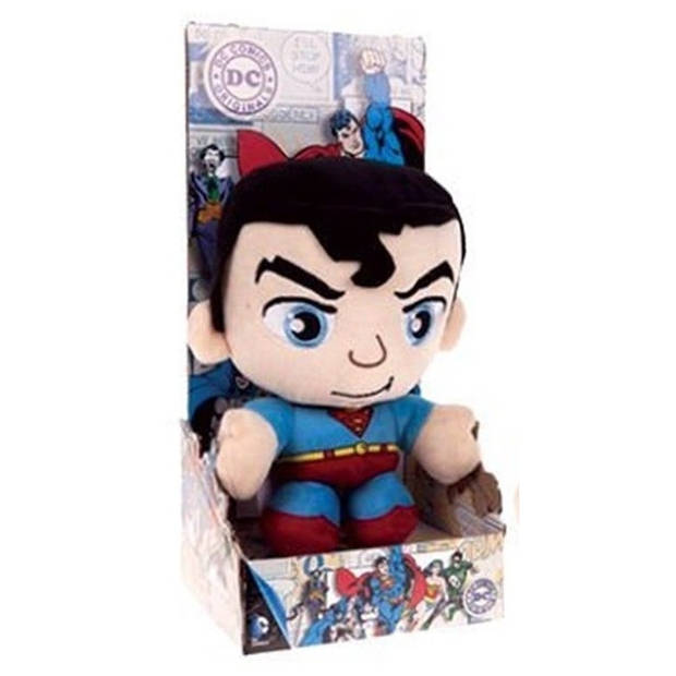 DC Comics knuffel in cadeaubox Superman pluche 20 cm blauw
