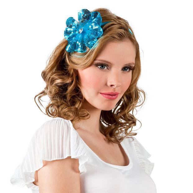Boland tiara Fleurette dames polyester blauw