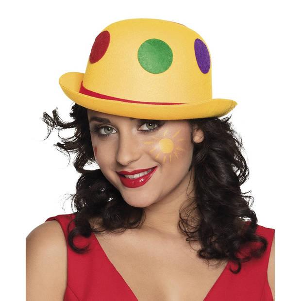 Boland hoed Binky bowler clown geel