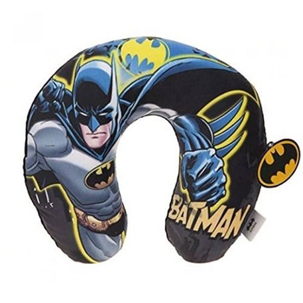 DC Comics nekkussen Batman met hoody 28 x 30 cm blauw/zwart