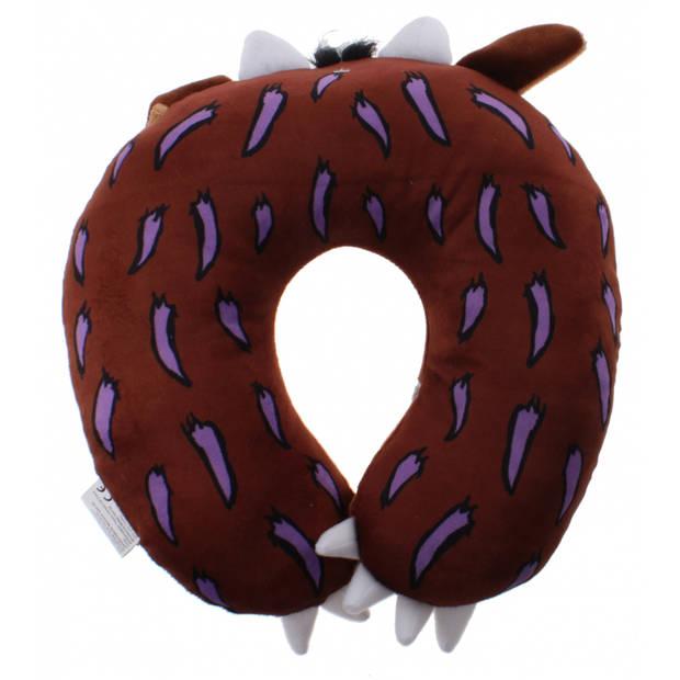 Kamparo nekkussen junior 26 x 26 cm polyester bruin
