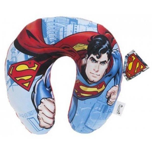 DC Comics nekkussen Superman 28 x 30 cm blauw/rood
