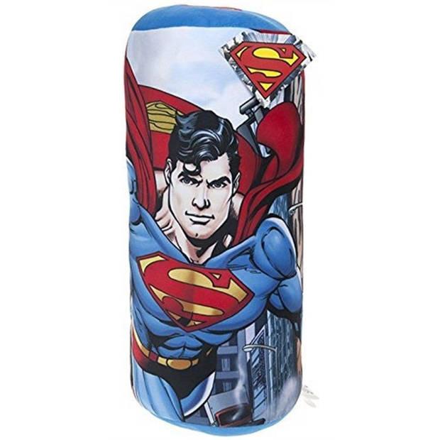 DC Comics rolkussen Superman jongens 40 cm multicolor/blauw