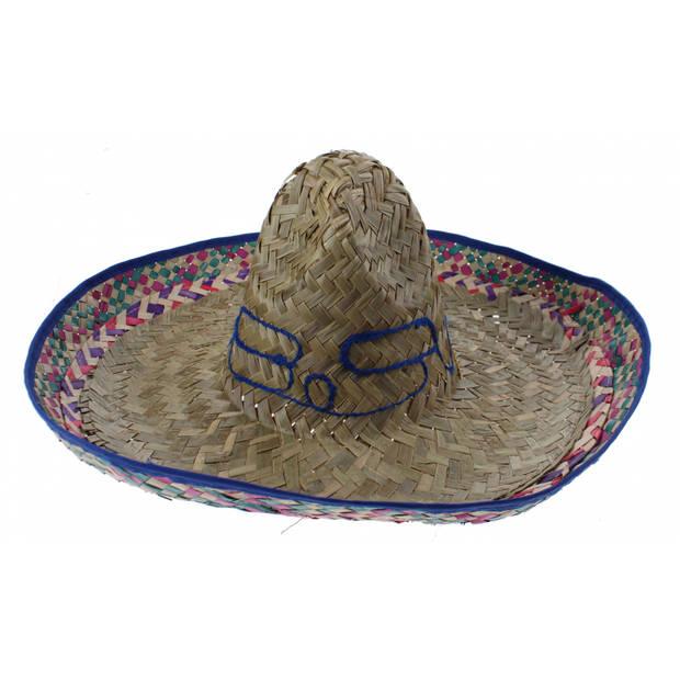 Boland sombrero Salvatore blauw 52 cm