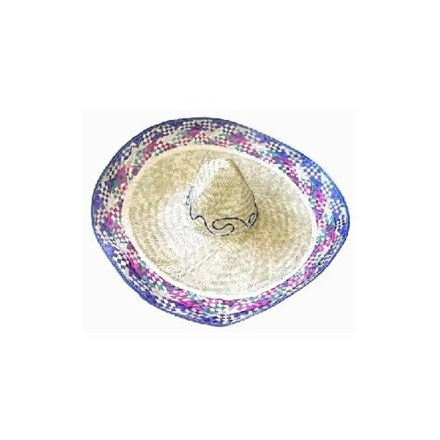 Boland sombrero Enrique blauw 70 cm