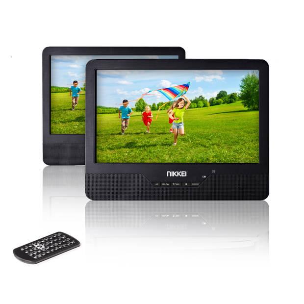 Nikkei NPD910T Portable DVD speler met 2 LCD-displays 9 inch