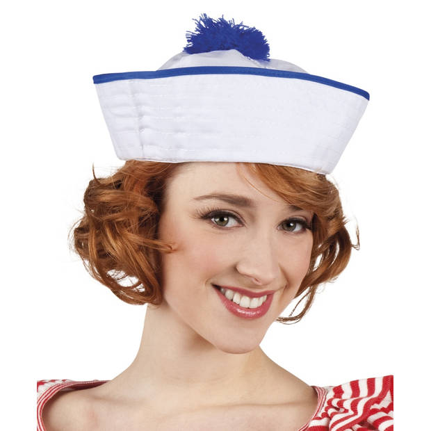 Boland pet Ahoy wit/blauw
