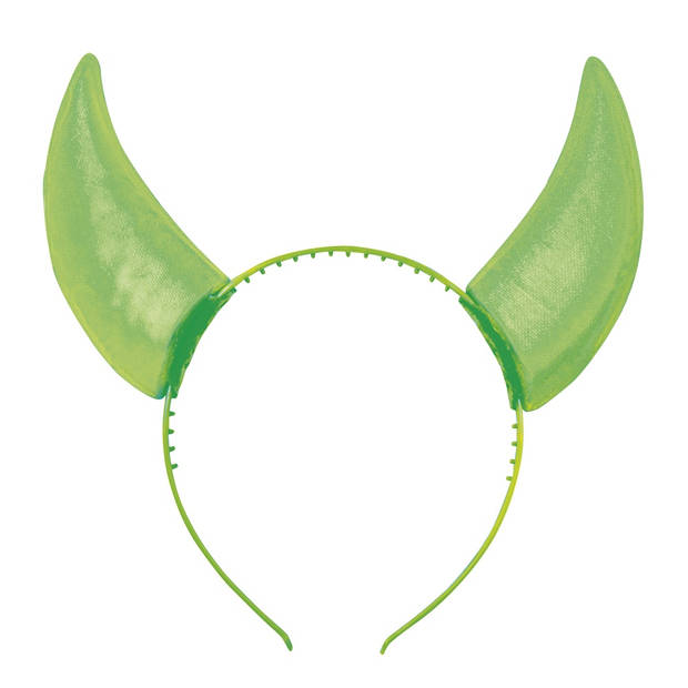 Boland tiara Rave horens groen