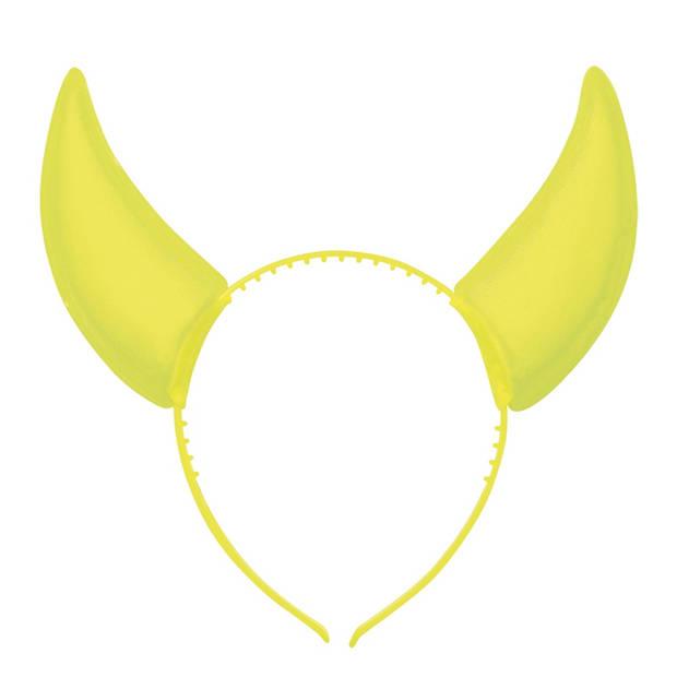 Boland tiara Rave horens geel