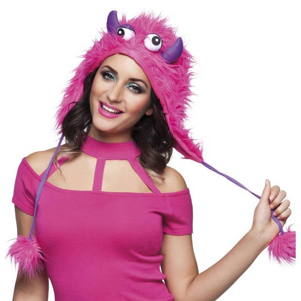 Boland hoed sweet monster roze