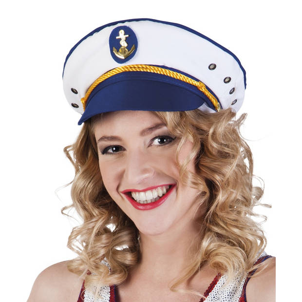 Boland pet captain Joyce wit/blauw