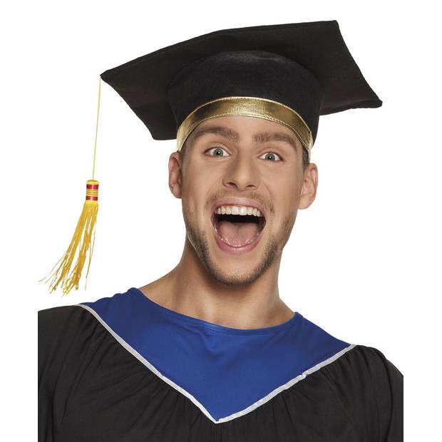 Boland hoed postgraduate zwart/goud