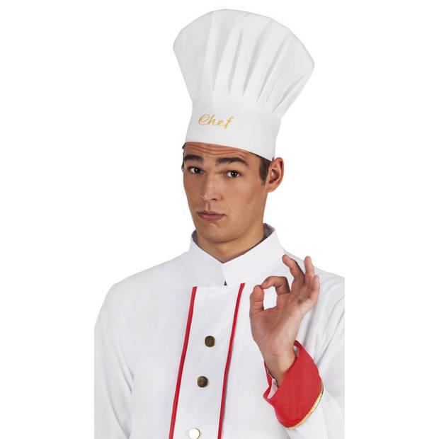 Boland koksmuts chef wit