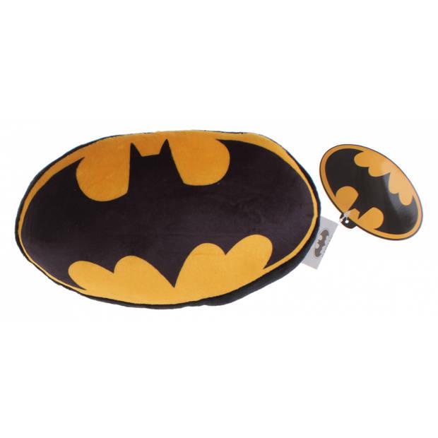 DC Comics kussen Batman-logo 20 cm pluche zwart/geel