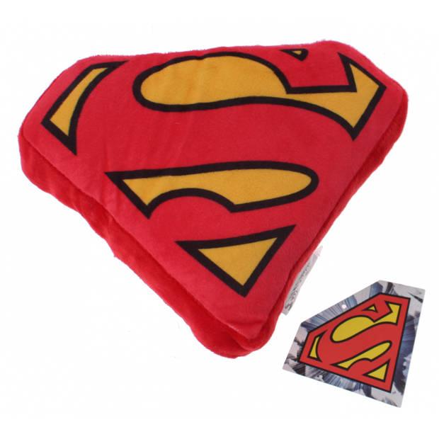 DC Comics kussen Superman-logo 20 cm pluche rood/geel