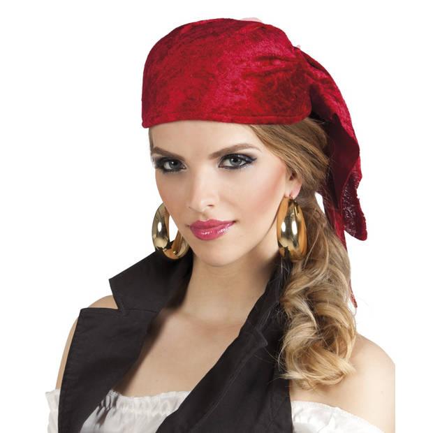 Boland kap piraat Rowan rood