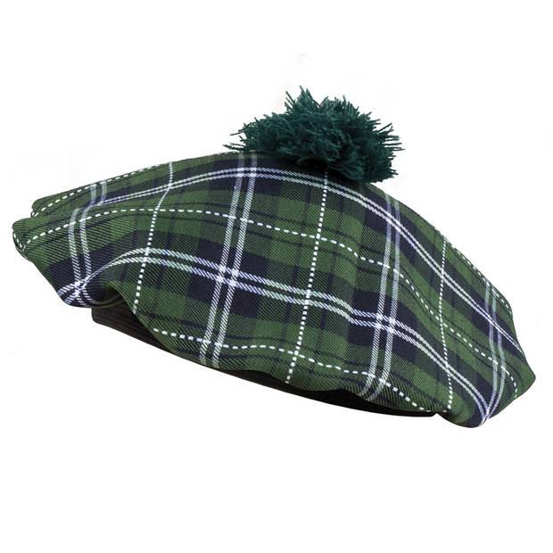 Boland baret Mrs Tartan groen