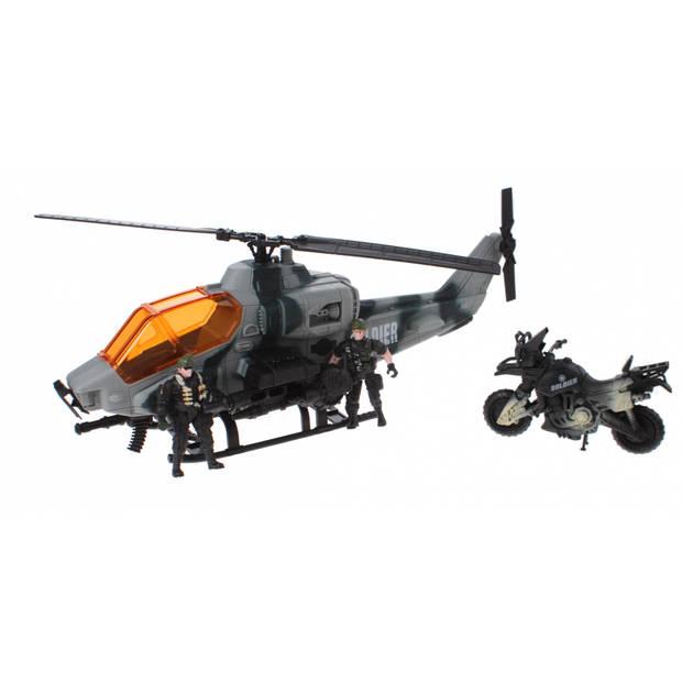 Johntoy speelset helikopter Combat Force 5-delig