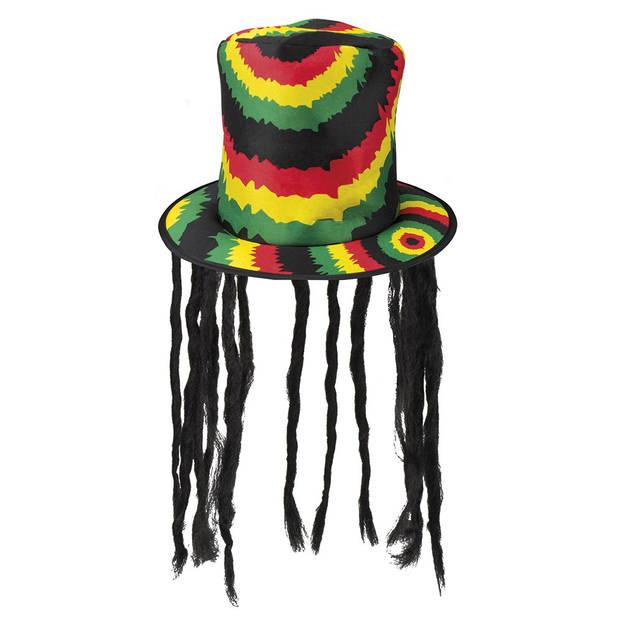 Boland hoge hoed rasta met dreadlocks