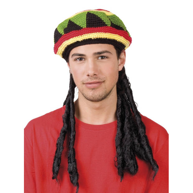 Boland hoed rasta met dreadlocks