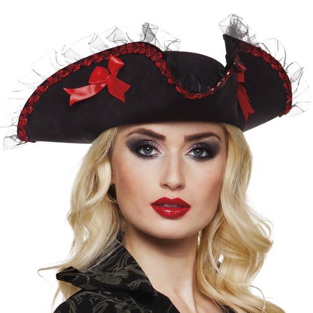 Boland hoed admiraal Rachel zwart/rood