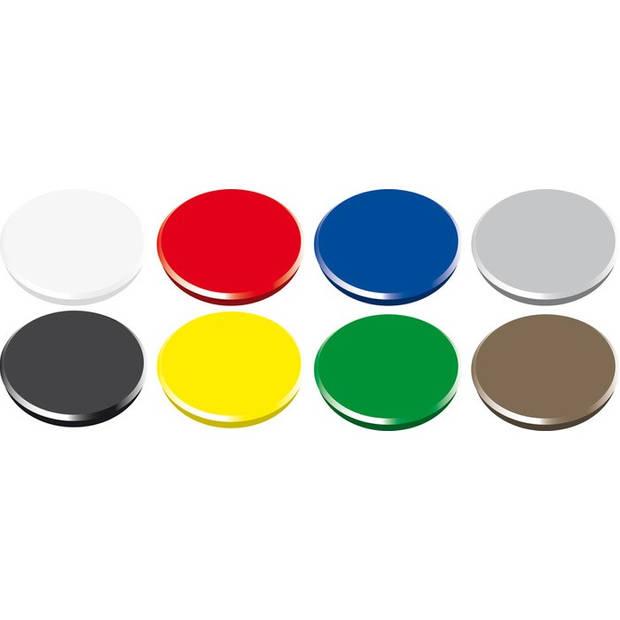 magneet Alco 32mm rond doos a 10 stuks assorti
