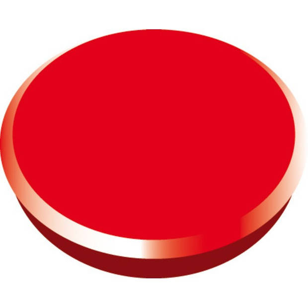 magneet Alco 24mm rond doos a 10 stuks rood