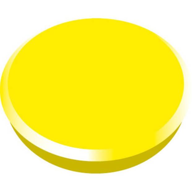 magneet Alco 24mm rond doos a 10 stuks geel