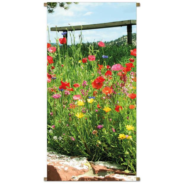 Banner Bloemen rood l170b85cm
