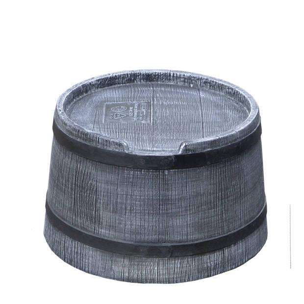 Voet regenton voor 50 liter grijs