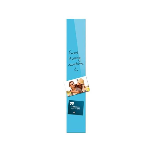 glasmagneetbord Be!Board 100x600mm blauw