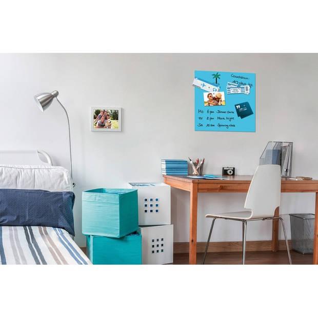 Glasmagneetbord Be!Board 450x450mm blauw