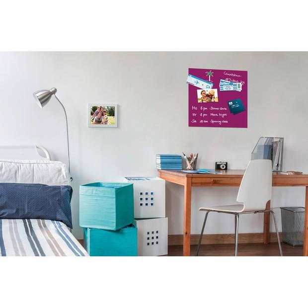 Glasmagneetbord Be!Board 450x450mm paars