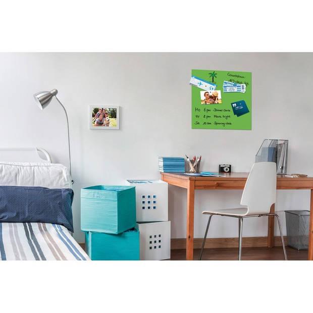 Glasmagneetbord Be!Board 450x450mm groen