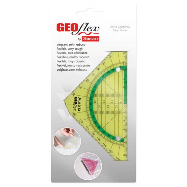 geodriehoek Aristo GEOflex 14cm flexibel Neon groen