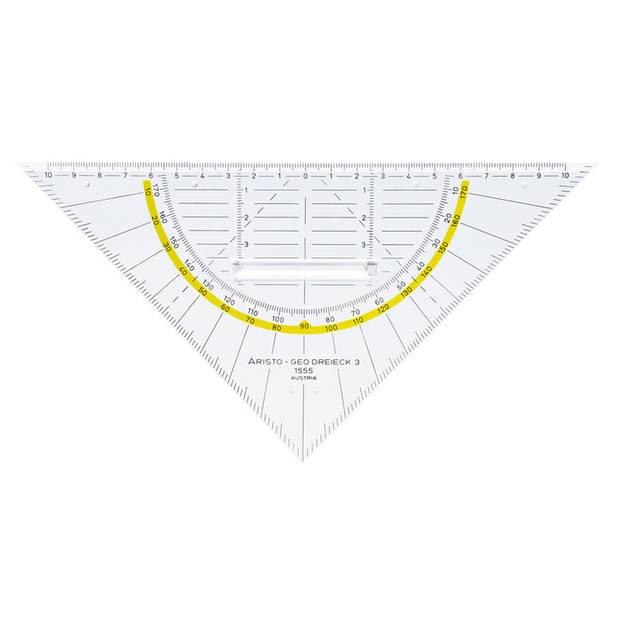 geodriehoek Aristo 22 cm afneembare greep