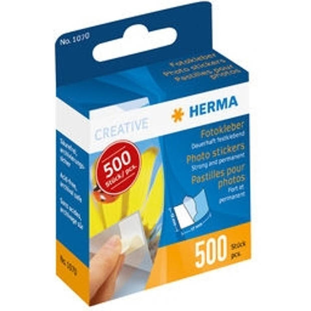 Herma fotostickers 500 stuks in kartonnen dispenser 1070
