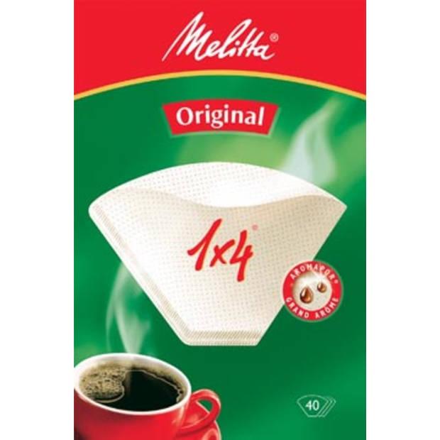 Melitta koffiefilter 1 x 4, pak van 40 stuks