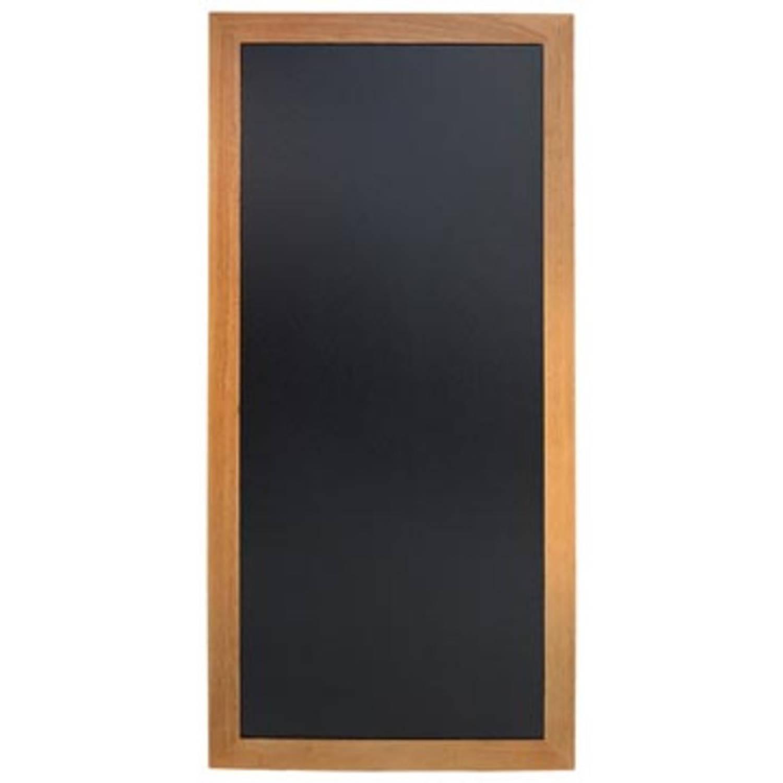 Securit wandkrijtbord Long, ft 56 x 120 cm, teak